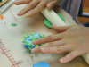 画材の心理効果解説書付 軽量樹脂粘土 ハーティーカラーピグメント(ブルー・50g)