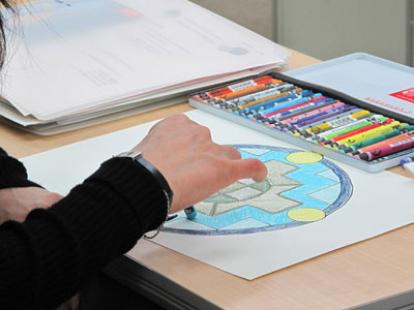 画材の心理効果解説書付 水性クレヨン(30色) カランダッシュ ネオカラー
