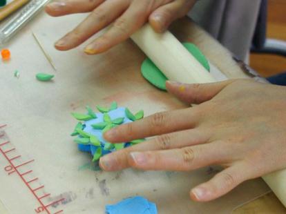 画材の心理効果解説書付 軽量樹脂粘土 ハーティーカラーピグメント(イエロー・50g)