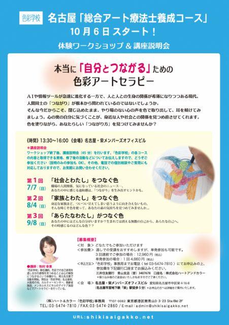 【名古屋】本当に「自分とつながる」ための色彩アートセラピー
